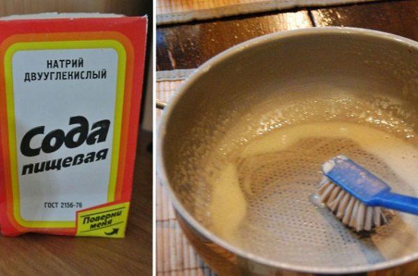 Мыть посуду содой
