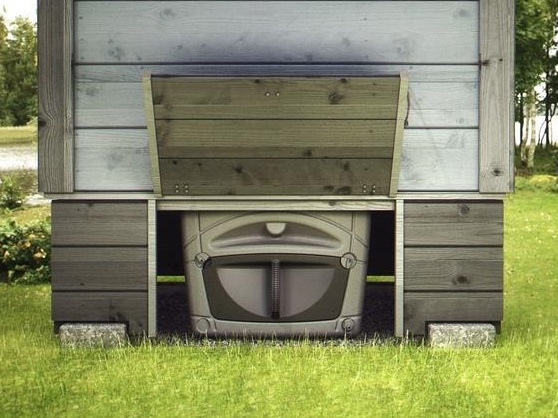 Бак компостирующего туалета непрерывного действия