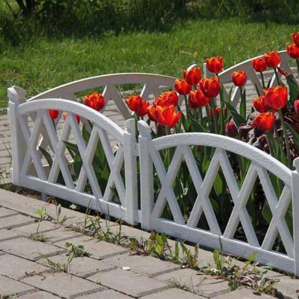 Бетонный забор для цветника