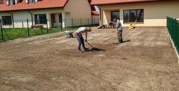 Подготовка территории для газона